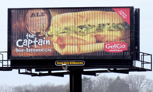 Tri face sandwich billboard