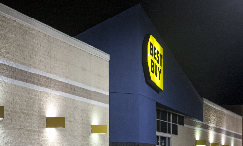 Best Buy at night