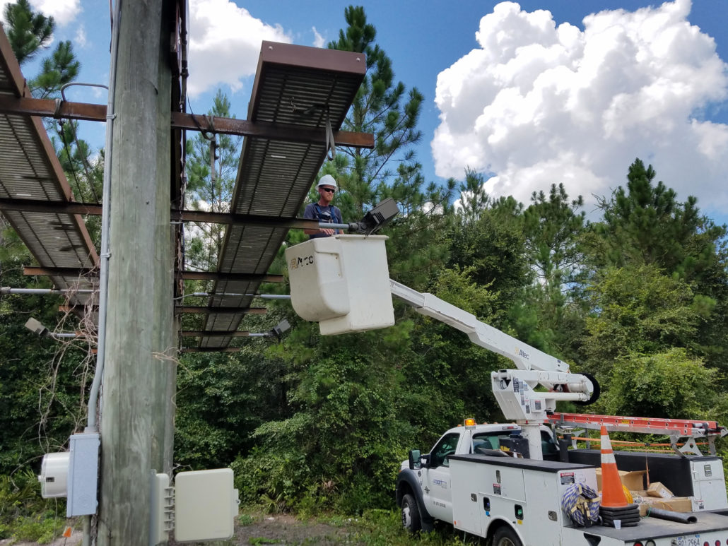 Bucket truck led installation smartlink