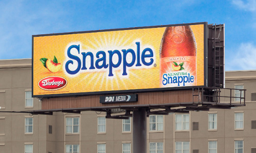 Snapple digital billboard led sign