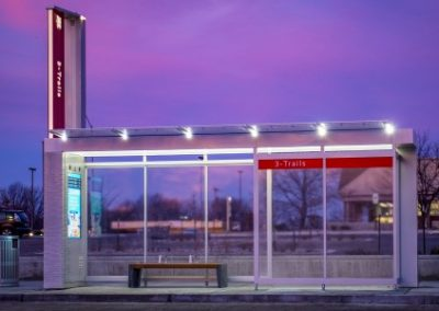 LCD Displays, Routers, Media Players & Lighting at BRT Shelters (Kansas City, MO)