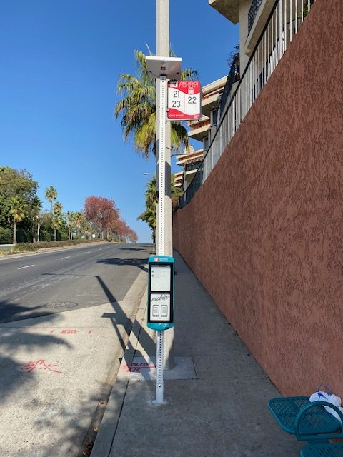 PV Stop+ with 23 inch Papercast E-Paper Sign - 2