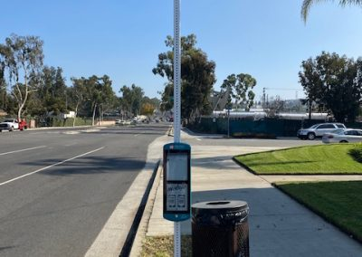 Long Beach Transit LBT Solar PV Lighting Bus Stop with SmartLink Monitoring and Real Time E-Paper Sign