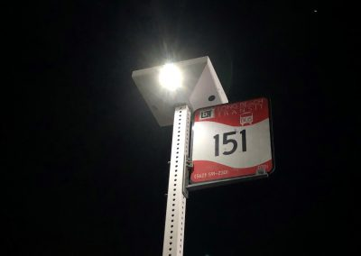 Pole Mounted Solar Lighting and Real-Time E-Paper Signs (Long Beach, CA)